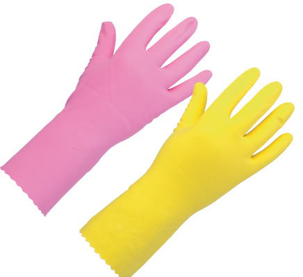 Keep Safe Natural Rubber Glove Pink
