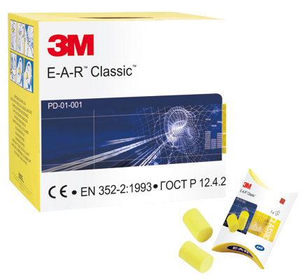 3M EAR Classic Foam Ear Plugs (250 Pairs)