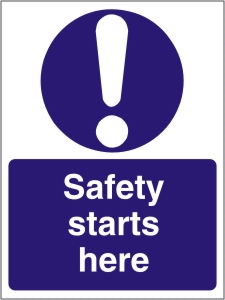 Safety Starts Here - Health and Safety Sign (MAC.01)