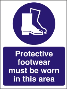 Protective Footwear Must be Worn in this Area - Health & Safety Sign (MAP.03)