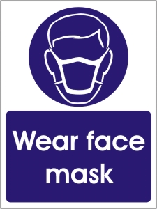 Wear Face Mask - Health and Safety Sign (MAP.17)