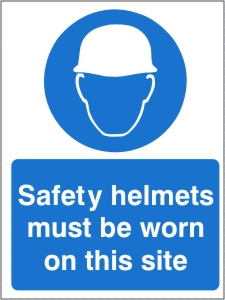 Safety Helmets Must be Worn on this Site - Health and Safety Sign (MAP.30)