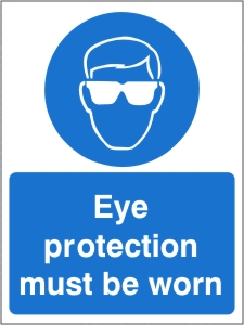 Eye Protection Must be Worn - Health and Safety Sign (MAP.34)