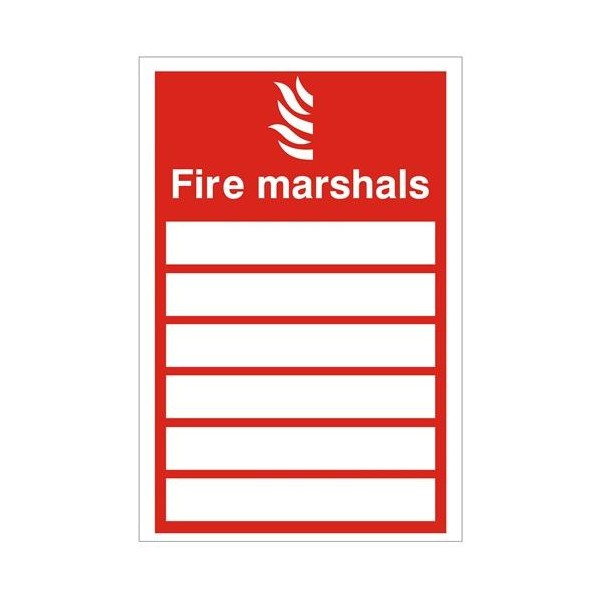 Fire Marshals Health And Safety Sign Safety Services