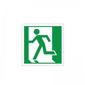Fire Exit Symbol - Left - Health and Safety Sign (FE.22)