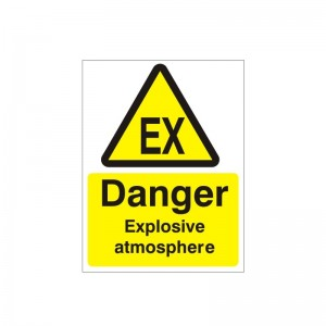 Danger Explosive Atmosphere - Health and Safety Sign (WAG.29)