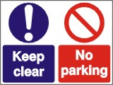 No Parking - Keep Clear - Health and Safety Sign (MUL.04)