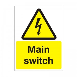 Main Switch - Health and Safety Sign (WAE.34)