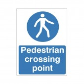 Pedestrian Crossing Point - Health and Safety Sign (MAC.23)
