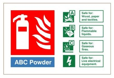 ABC Powder - Fire Extinguisher Health and Safety Sign (FIW.15)