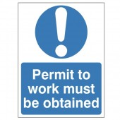 Permit To Work Must Be Obtained - Health and Safety Sign (MAC.08)