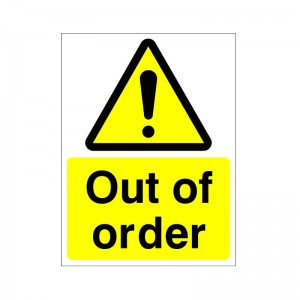 Out Of Order - Health and Safety Sign (WAG.51)