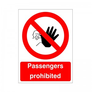 Passengers Prohibited - Health and Safety Sign (PRA.12)