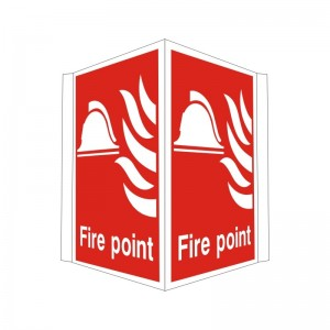 Fire Point - Projecting Health and Safety Sign (PRO.03)