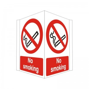 No Smoking - Projecting - Health and Safety Sign (PRO.21)