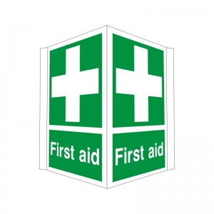 First Aid - Projecting Health and Safety Sign (PRO.31) - Unmissable discounted prices for one of the best online health and safety sign ranges, by Safety Services Direct!