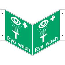 Eye Wash - Projecting Health and Safety Sign (PRO.34)