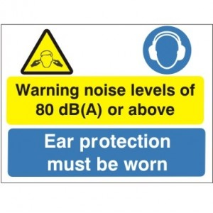 Warning Noise Levels Of 80dB (A) Or Above - Health and Safety Sign (MAP.43)