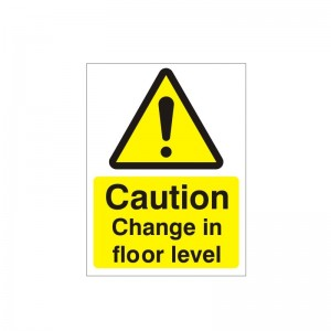 Caution Change In Floor Level - Health and Safety Sign (WAC.94)