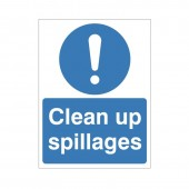 Clean Up Spillages - Health and Safety Sign (MAG.24)