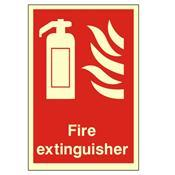 Photoluminescent Fire Extinguisher Sign - Health & Safety Sign (PP61W)