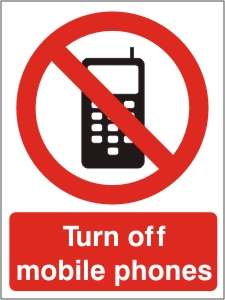Turn off Mobile Phones - Health & Safety Sign (PRG.05)
