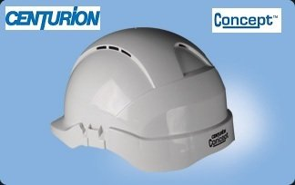 Centurion Concept Vented Safety Helmet White