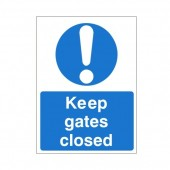 Keep Gates Closed - Health and Safety Sign (MAC.52)