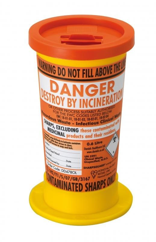Sharpsguard Containers - 0.6 ltr