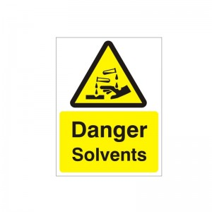 Danger Solvents - Health and Safety Sign (WAG.61)
