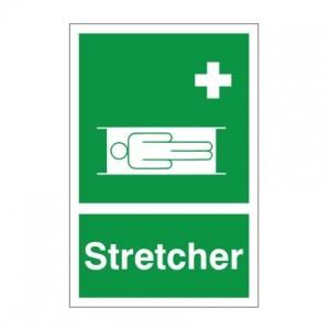 Stretcher - Health and Safety Sign (FA.14) - High quality, long lasting health and safety signs from Safety Services Direct for just £1.95!