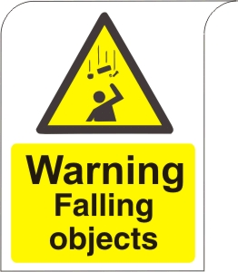 Warning Falling Objects - Health and Safety Sign (WAC.17)