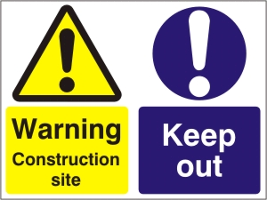 Warning Construction Site - Keep Out - Health and Safety Sign (WAC.21)