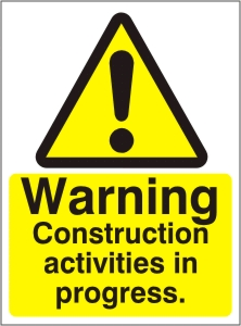 Warning Construction Activities in Progress - Health and Safety Sign (WAC.24)