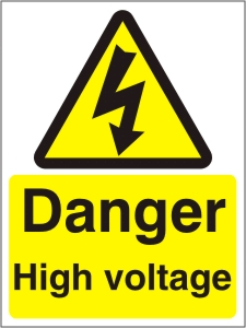 Danger High Voltage - Health and Safety Sign (WAE.01)
