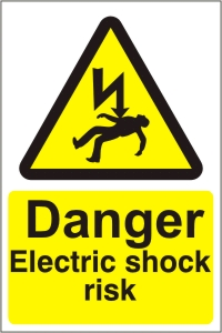 Danger Electric Shock Risk - Health and Safety Sign (WAE.11)
