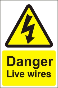 Danger Live Wires - Health and Safety Sign (WAE.12)