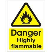 Danger Highly Flammable - Health and Safety Sign (WAG.17)