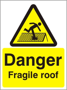 Danger Fragile Roof - Health and Safety Sign (WAG.02)