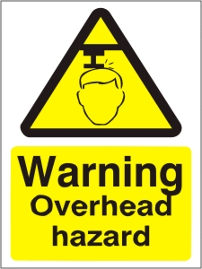 Warning Overhead Hazards - Health and Safety Sign (WAG.15)