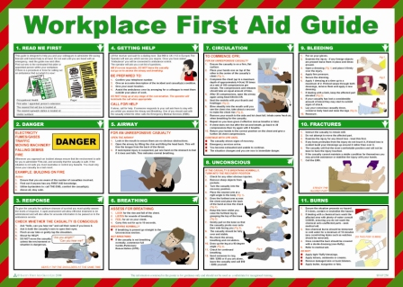 Workplace First Aid Guide Poster | Safety Services Direct