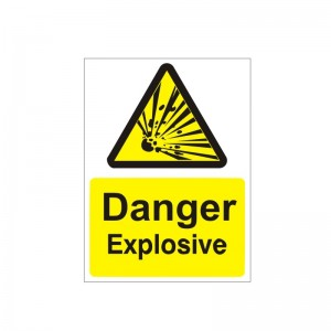 Danger Explosive - Health and Safety Sign (WAG.18)