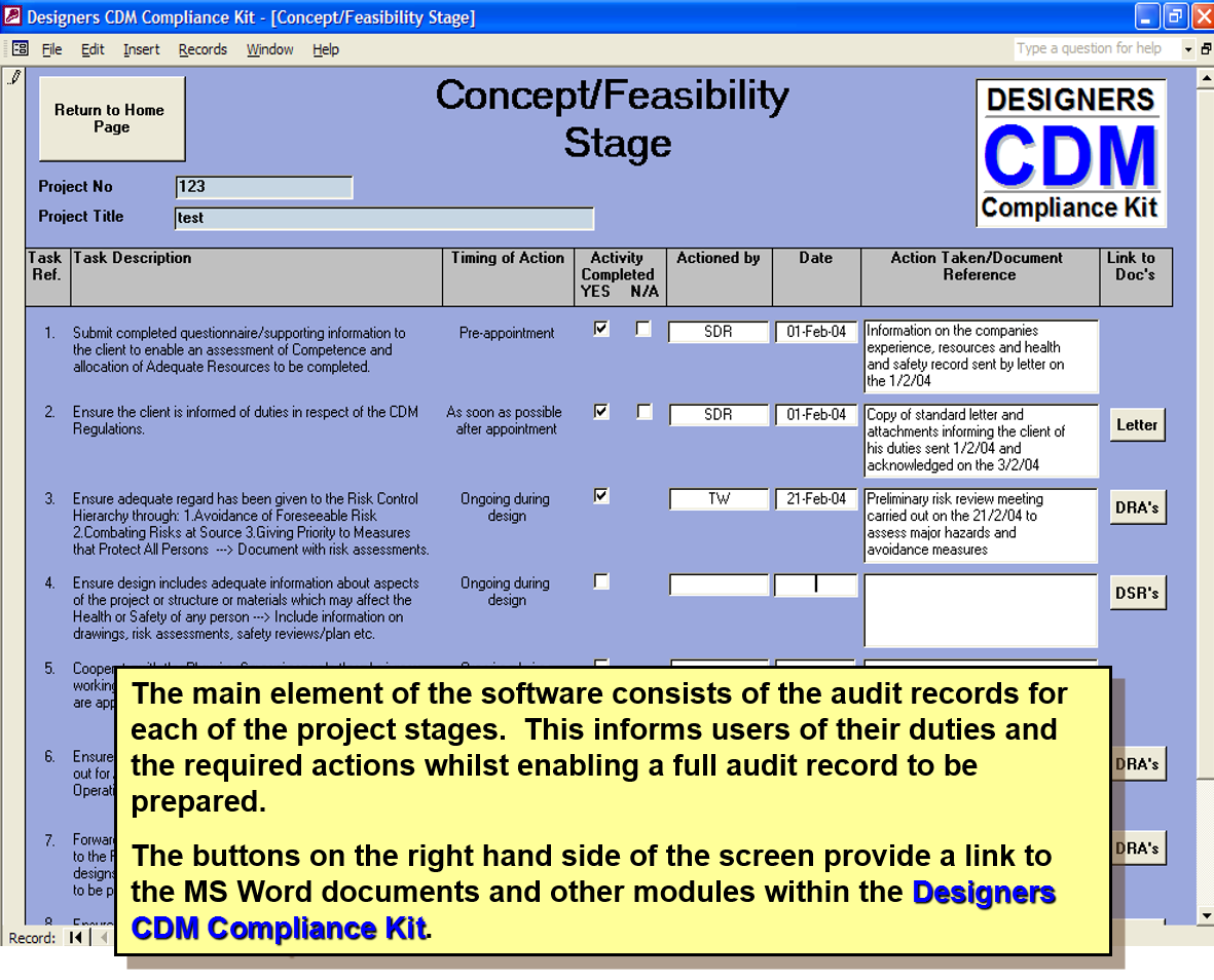 Cdm 2015 compliance kit risk assesment for designers ssd for Cdm construction phase plan template