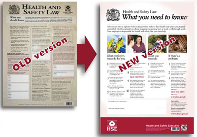 New HSE Health and Safety at Work Law Poster